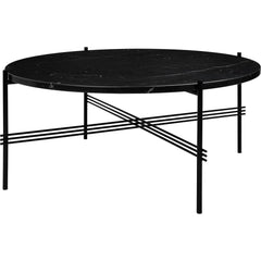 TS Round Coffee Table - Marble Top Tables Gubi Black Black Marquina Marble Medium: Dia 31.5""