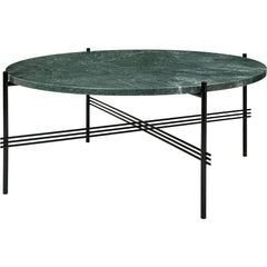 TS Round Coffee Table - Marble Top Tables Gubi Black Green Guatemala Marble Medium: Dia 31.5""