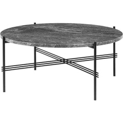 TS Round Coffee Table - Marble Top Tables Gubi Black Grey Emperador Marble Medium: Dia 31.5""