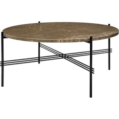 TS Round Coffee Table - Marble Top Tables Gubi Black Brown Emperador Marble Medium: Dia 31.5""