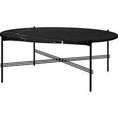 TS Round Coffee Table - Marble Top Tables Gubi Black Black Marquina Marble Large: Dia 41.3""