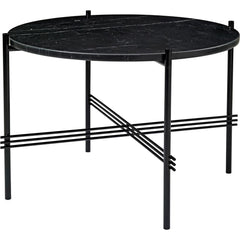 TS Round Coffee Table - Marble Top Tables Gubi Black Black Marquina Marble Small: Dia 21.7""