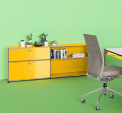 USM Haller Credenza DF storage USM Golden Yellow