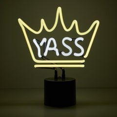 Yass Queen Sign Neon Light lamps amped