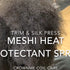 CrownMe Coil Care: Trim & Silk Press using the Meshi Heat Protectant Spray