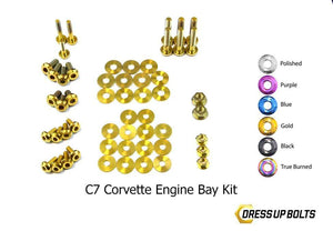 Chevrolet C7 Corvette (2014-2019) Titanium Dress Up Bolts Engine Bay Kit - DressUpBolts.com