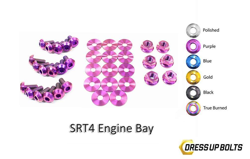 Dodge Neon SRT-4 SRT4 (2003-2005) PLDS41 Titanium Dress Up Bolts Engine Bay Kit - DressUpBolts.com