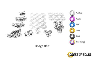 Dodge Dart (2013-2016) Titanium Dress Up Bolts Engine Bay Kit - DressUpBolts.com