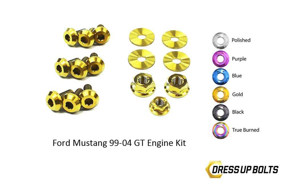 Ford Mustang GT (1999-2004) Titanium Dress Up Bolts Engine Kit