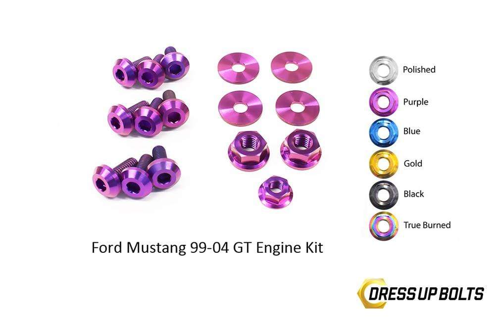Ford Mustang GT (1999-2004) Titanium Dress Up Bolts Engine Kit - DressUpBolts.com