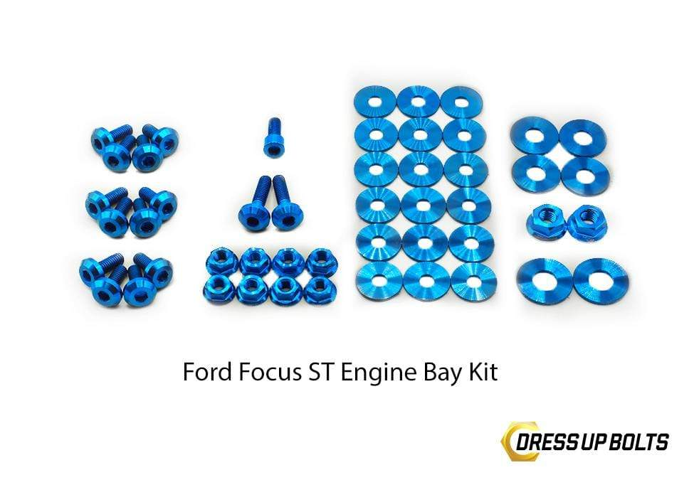 Ford Focus ST (2011-2014) Titanium Dress Up Bolt Engine Bay Kits - DressUpBolts.com