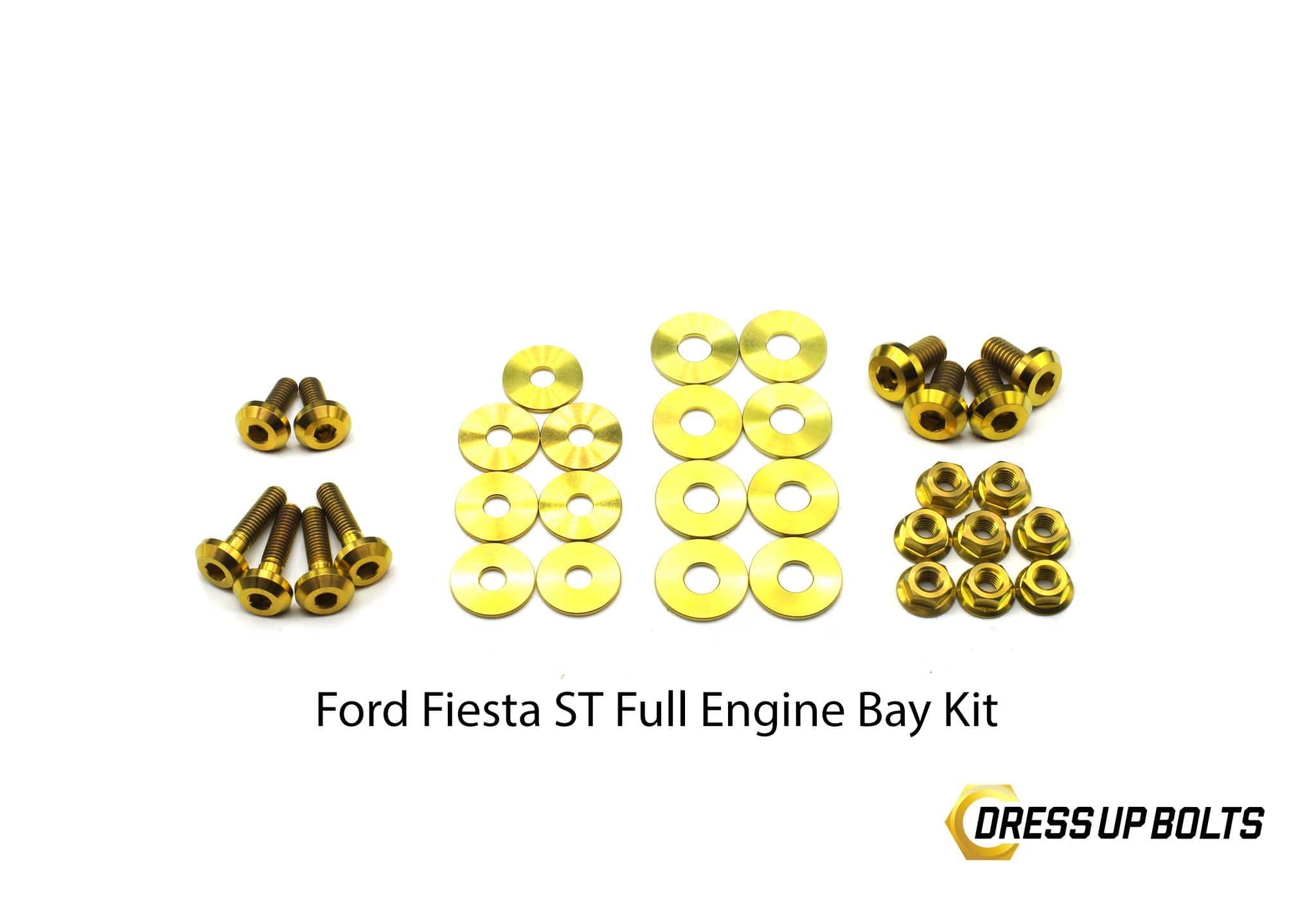 Ford Fiesta ST (2013-2017) Titanium Dress Up Bolt Engine Bay Kit - DressUpBolts.com