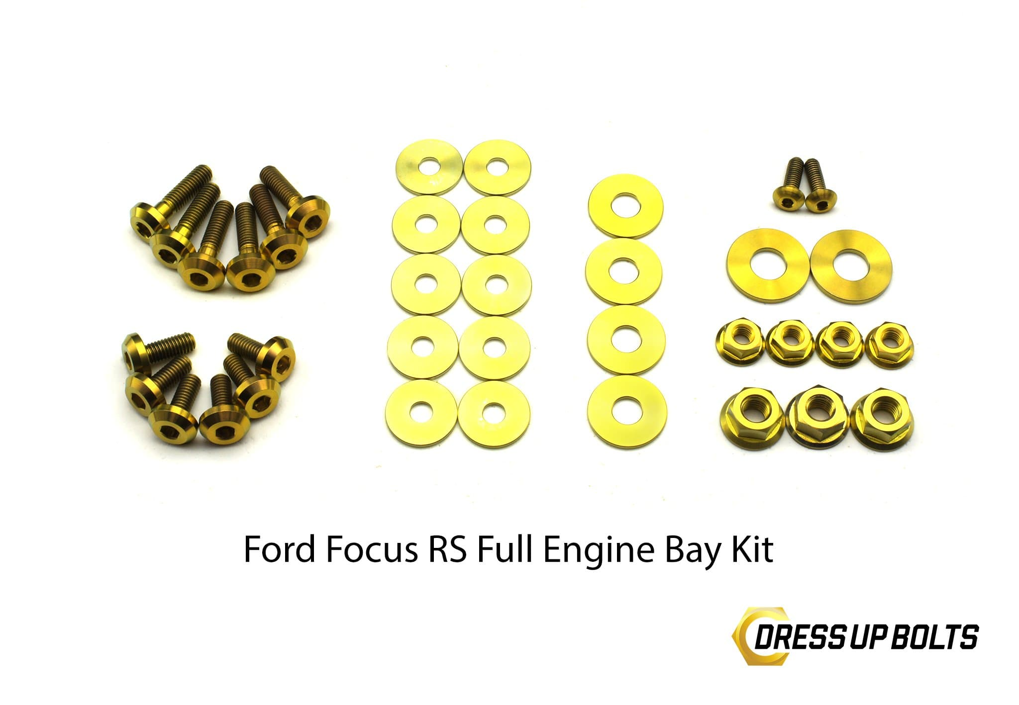 Ford Focus RS (2016-2018) Titanium Dress Up Bolt Engine Bay Kit - DressUpBolts.com