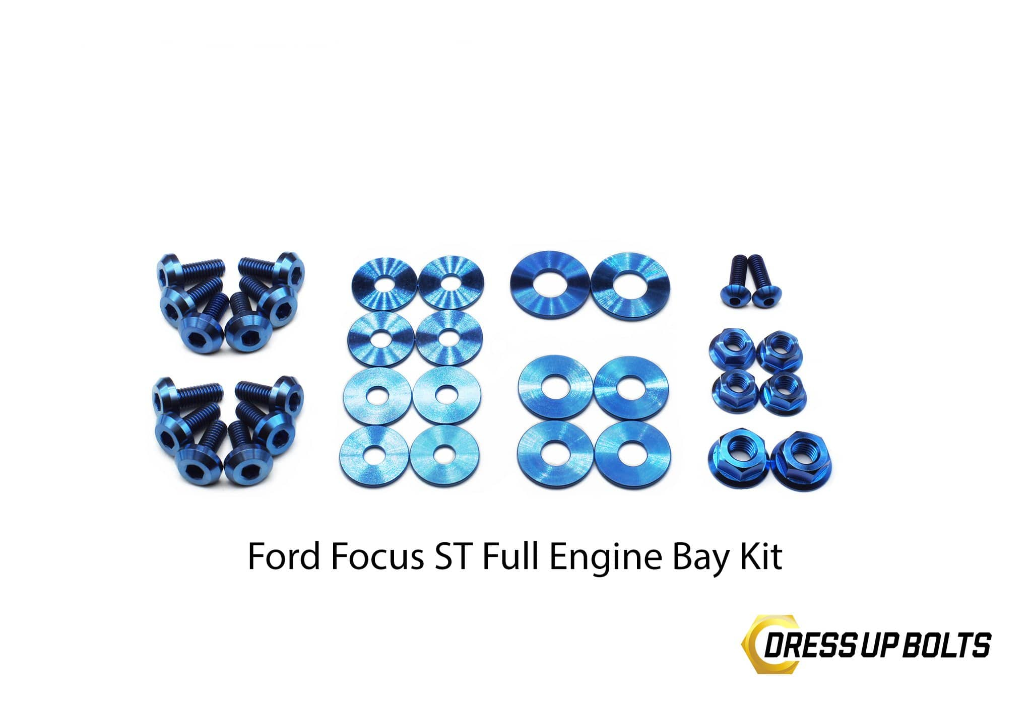 Ford Focus ST (2015-2018) Titanium Dress Up Bolt Engine Bay Kit - DressUpBolts.com