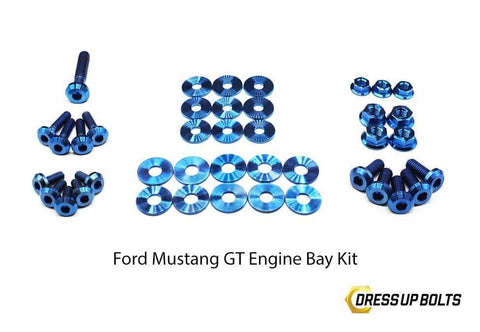 Ford Mustang GT (2015-2017) Titanium Dress Up Bolts Engine Bay Kit