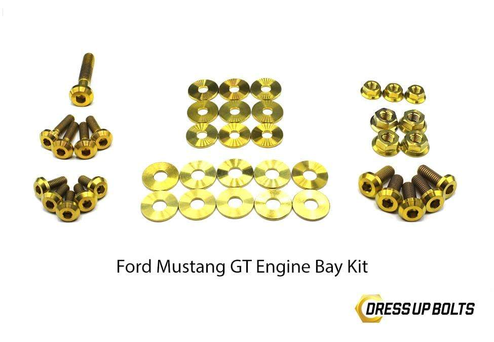 Ford Mustang GT (2015-2019) Titanium Dress Up Bolts Engine Bay Kit