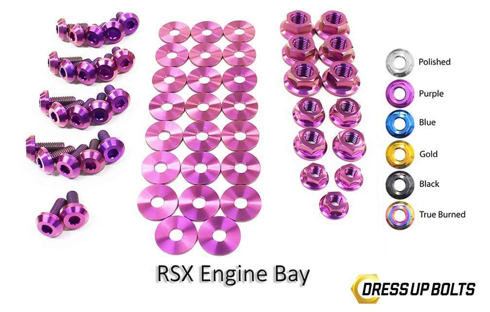 Acura RSX & RSX Type-S (2002-2006) Titanium Dress Up Bolts Engine Bay Kit - DressUpBolts.com