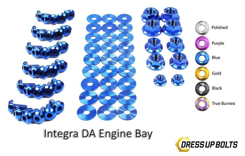 Acura Integra DA (1989-1993) Titanium Dress Up Bolts Full Engine Bay Kit - DressUpBolts.com
