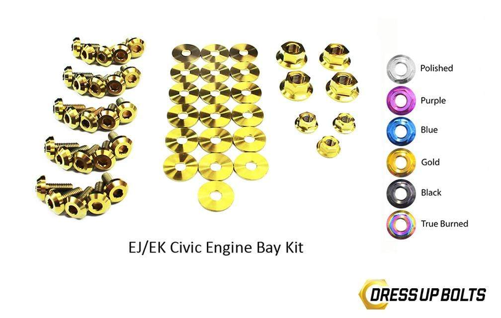 Honda Civic EK/EJ (1996-2000) Titanium Ti Dress Up Bolts Engine Bay Kit - DressUpBolts.com