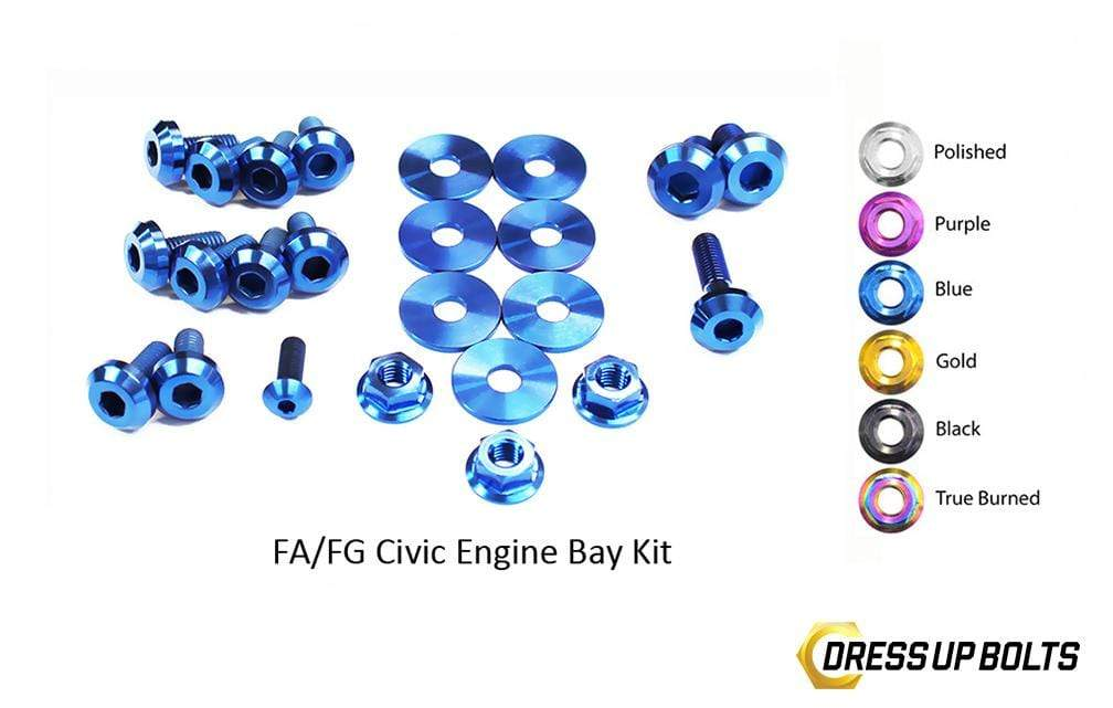Honda Civic Si FG/FA (2006-2011) Titanium Ti Dress Up Bolts Engine Bay Kit - DressUpBolts.com