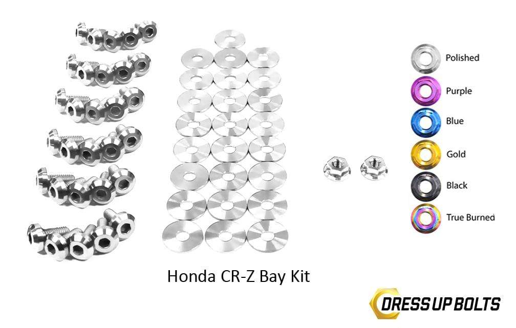 Honda CR-Z CRZ (2011-2015) Titanium Ti Dress Up Bolts Engine Bay Kit - DressUpBolts.com