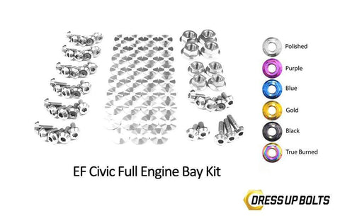 Honda Civic EF (1988-1991) Titanium Dress Up Bolts Full