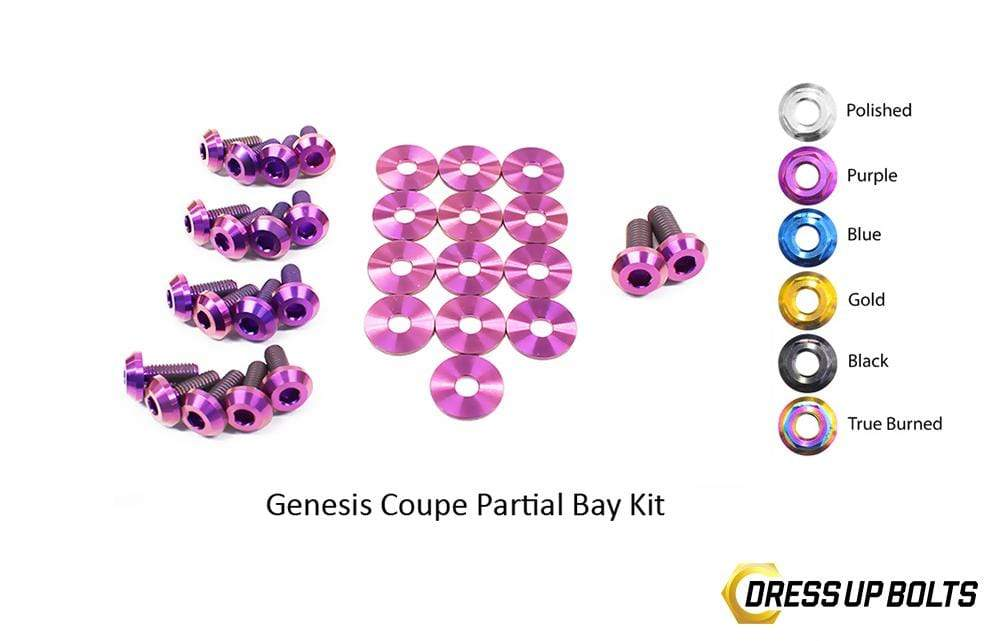 Hyundai Genesis Coupe (2009-2016) BK Titanium Dress Up Bolts Partial Engine Bay Kit - DressUpBolts.com