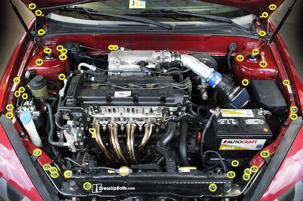 Hyundai Tiburon Engine Bay