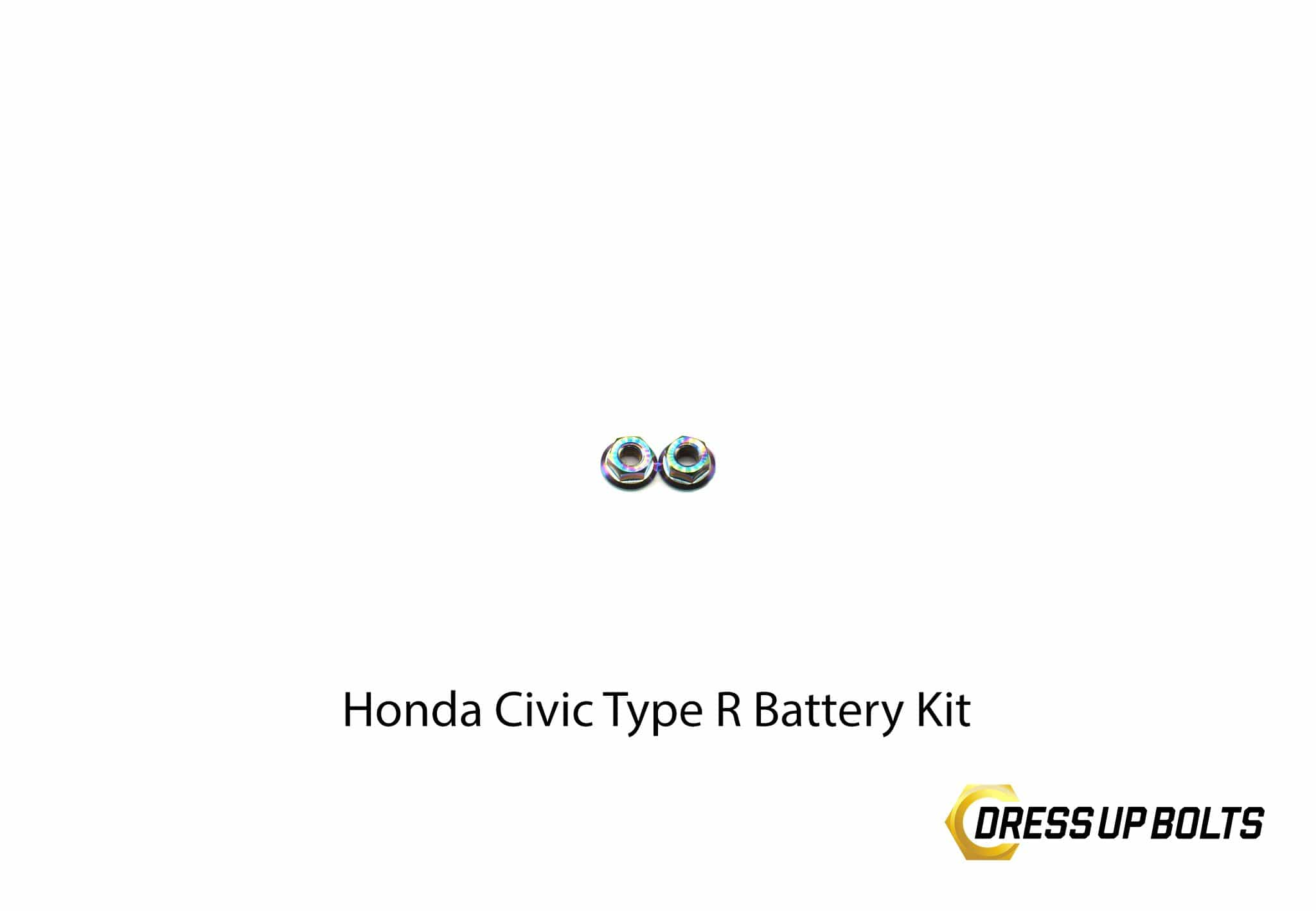 Honda Civic Type R (2017-2019) Titanium Dress Up Bolt Battery Kit - DressUpBolts.com