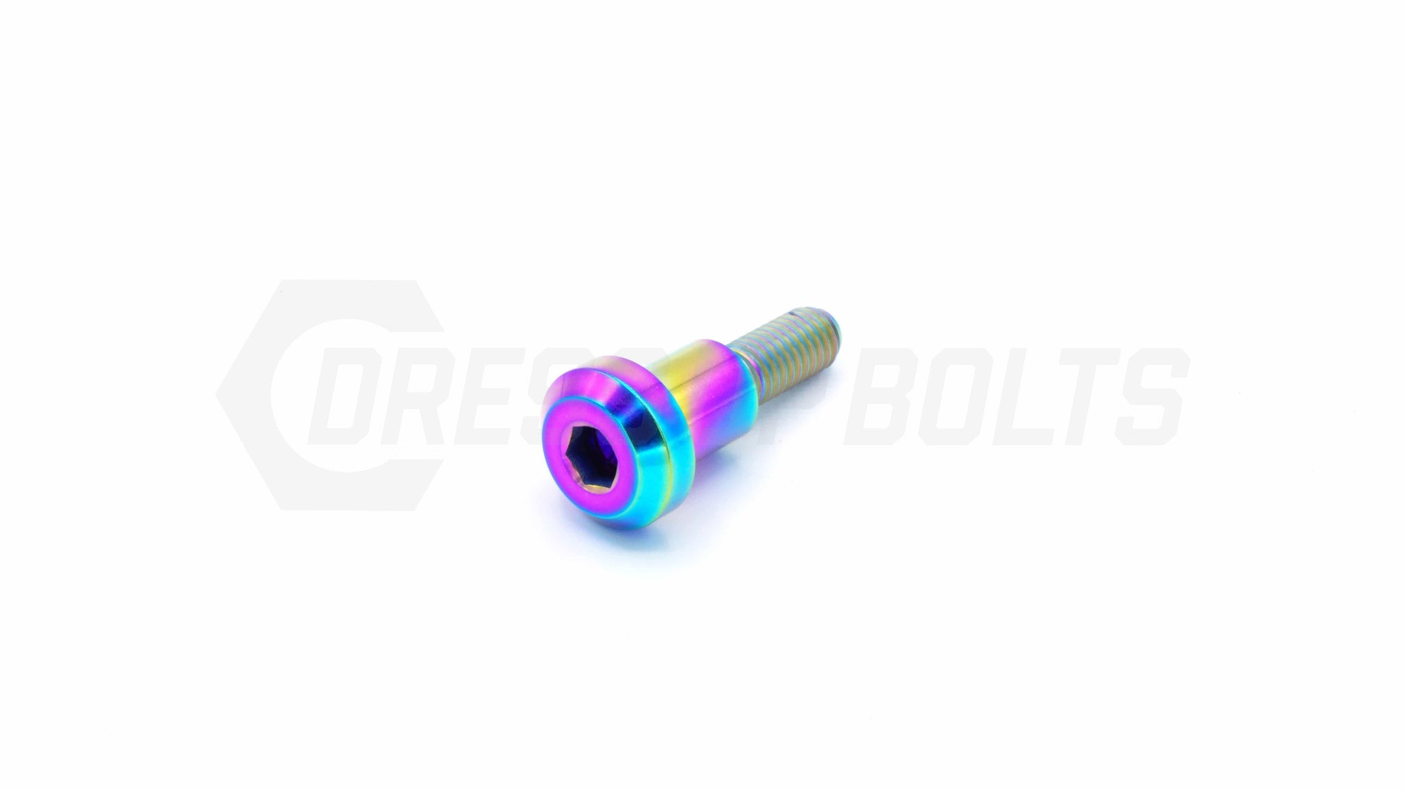M6 x 1.00 x 25mm Titanium Motor Head Shoulder Bolt by Dress Up Bolts - DressUpBolts.com