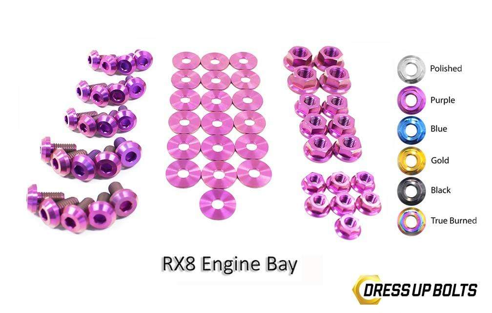 Mazda RX-8 FE (2003-2012) Titanium Dress Up Bolts Engine Bay Kit - DressUpBolts.com