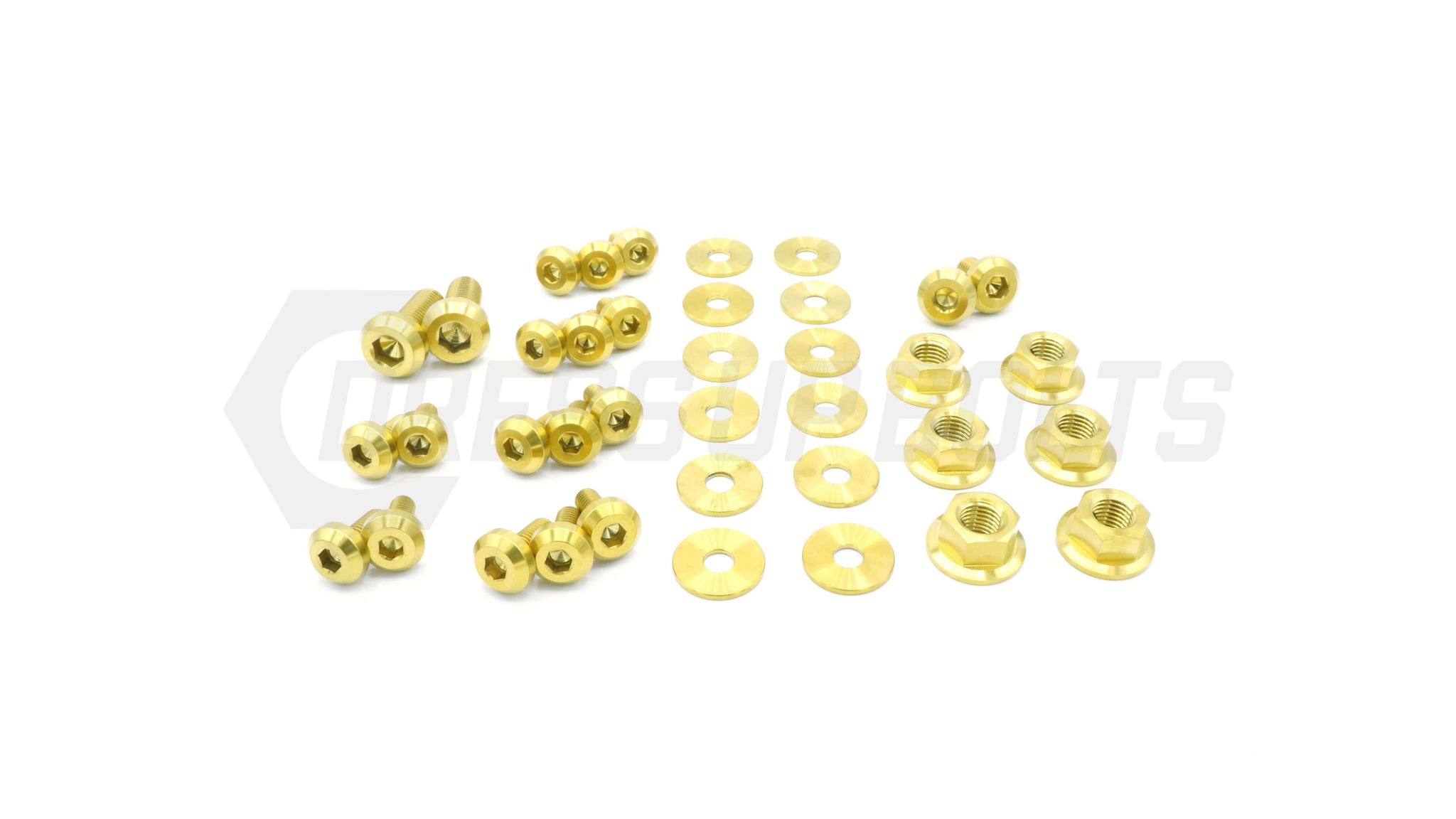 Mitsubishi Evo VIII (2003-2005) Titanium Dress Up Bolts Partial Engine Bay Kit - DressUpBolts.com