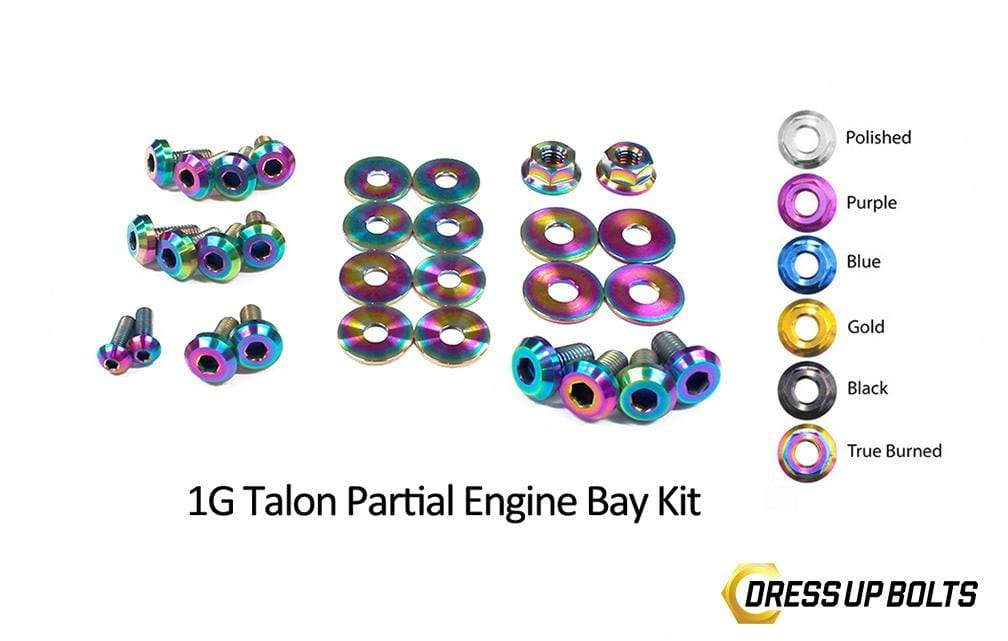 Eagle 1G Talon DSM (1990-1994) Titanium Dress Up Bolts Partial Engine Bay Kit - DressUpBolts.com