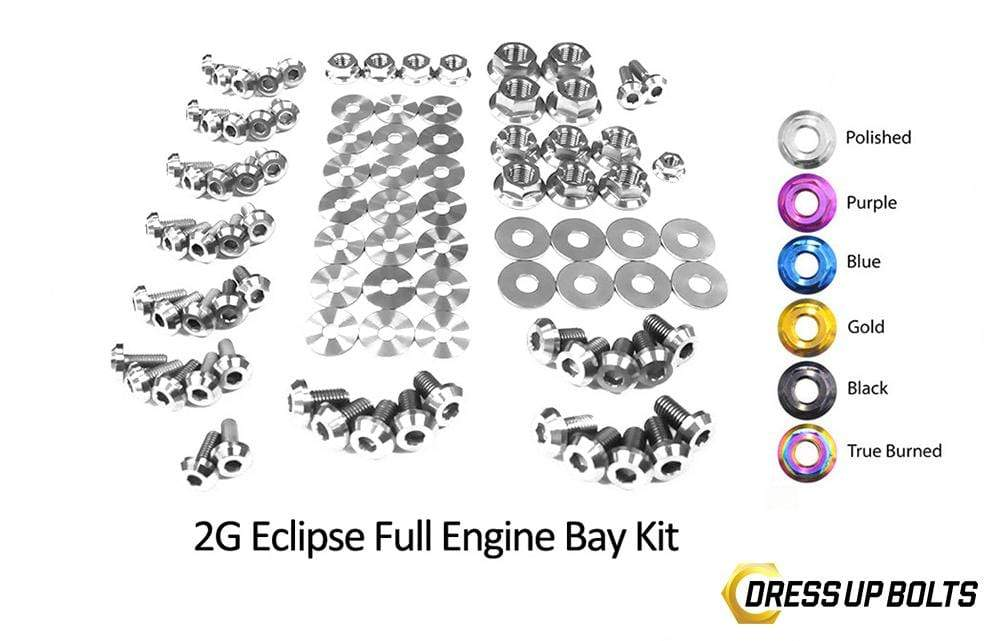 Eagle 2G Talon DSM (1995-1999) Titanium Dress Up Bolts Full Engine Bay Kit - DressUpBolts.com