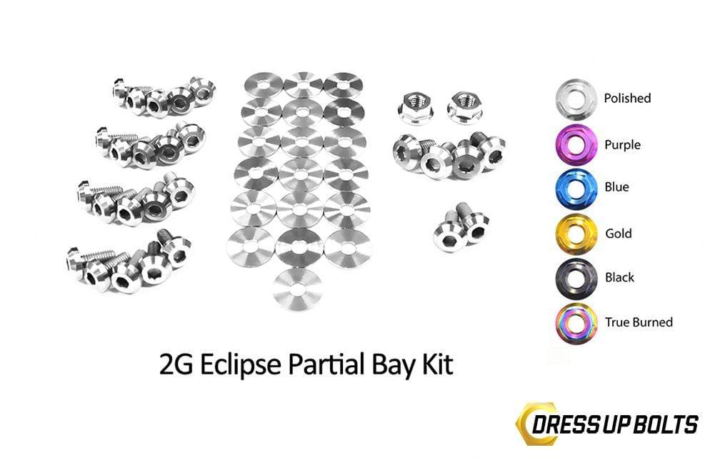 Eagle 2G Talon DSM (1995-1999) Titanium Dress Up Bolts Partial Engine Bay Kit - DressUpBolts.com