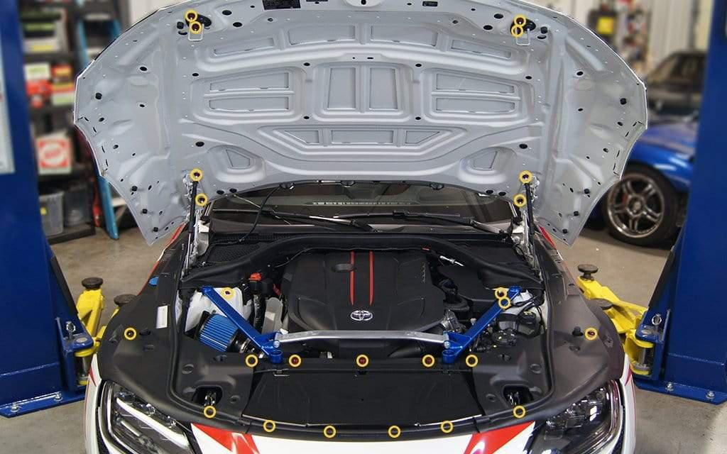Dress Up Bolts Stage 1 Titanium Hardware Engine Bay Kit - Toyota Supra MKV - DressUpBolts.com