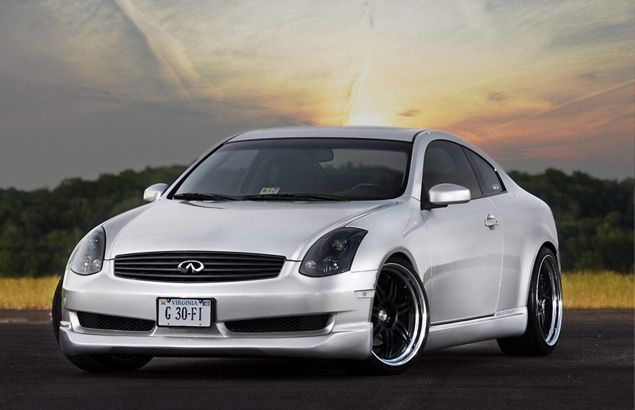 Infiniti G35 Coupe and Sedan (2003-2007) V35 Titanium Dress Up Bolts Engine Bay Kit - DressUpBolts.com