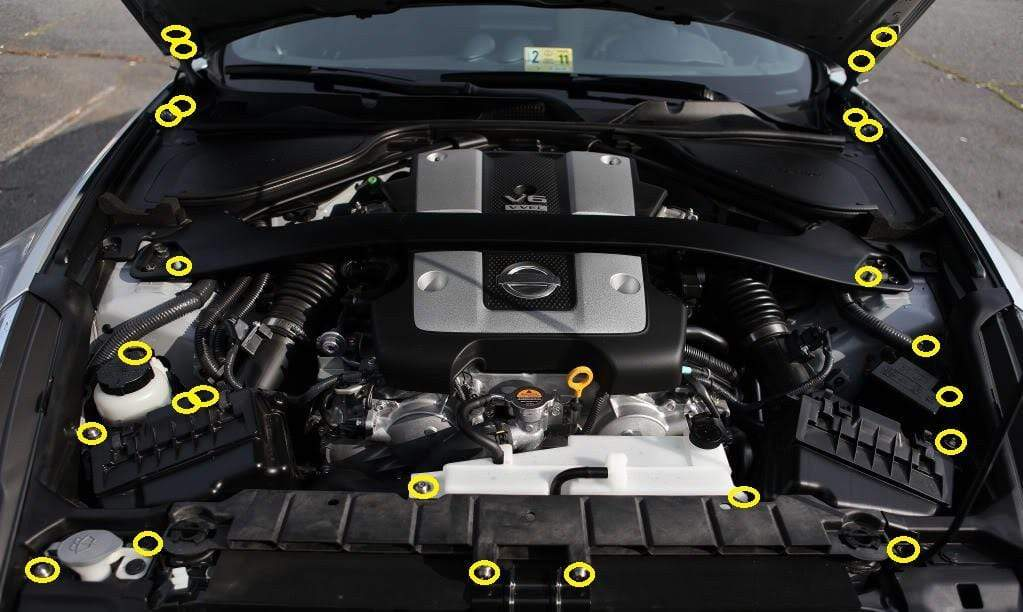 Nissan 370Z Engine Bay