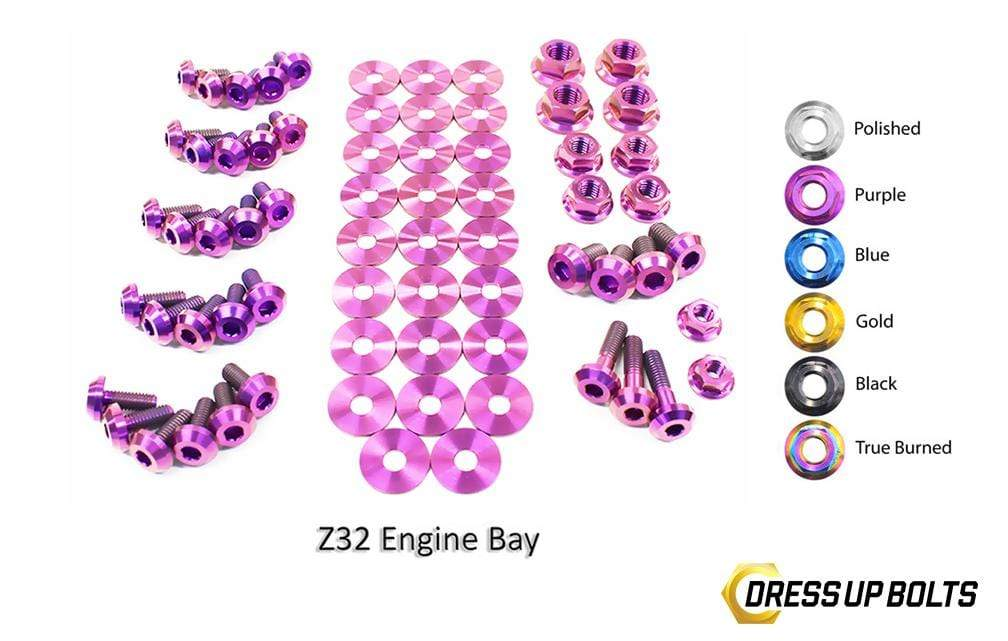 Nissan 300ZX (1990-1999) Titanium Dress Up Bolts Engine Bay Kit - DressUpBolts.com