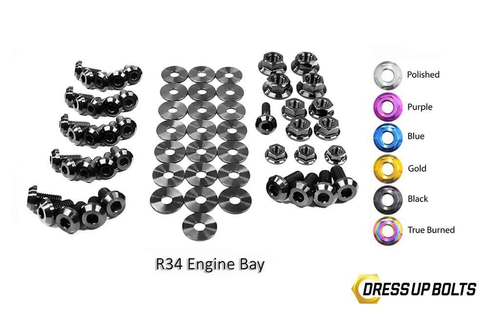 Nissan Skyline R34 (1998-2002) Titanium Dress Up Bolts
