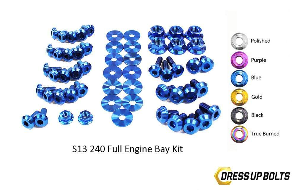 Nissan S13 240sx (1989-1995) Titanium Dress Up Bolts Full Engine Bay Kit - DressUpBolts.com