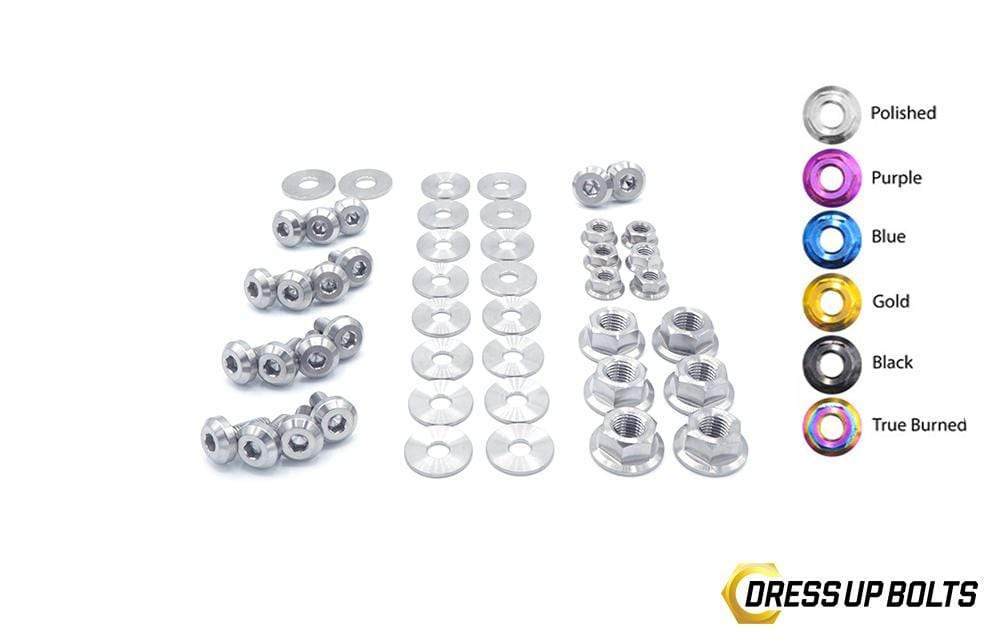 Nissan S15 (1999-2002) Titanium Dress Up Bolts Partial Engine Bay Kit - DressUpBolts.com
