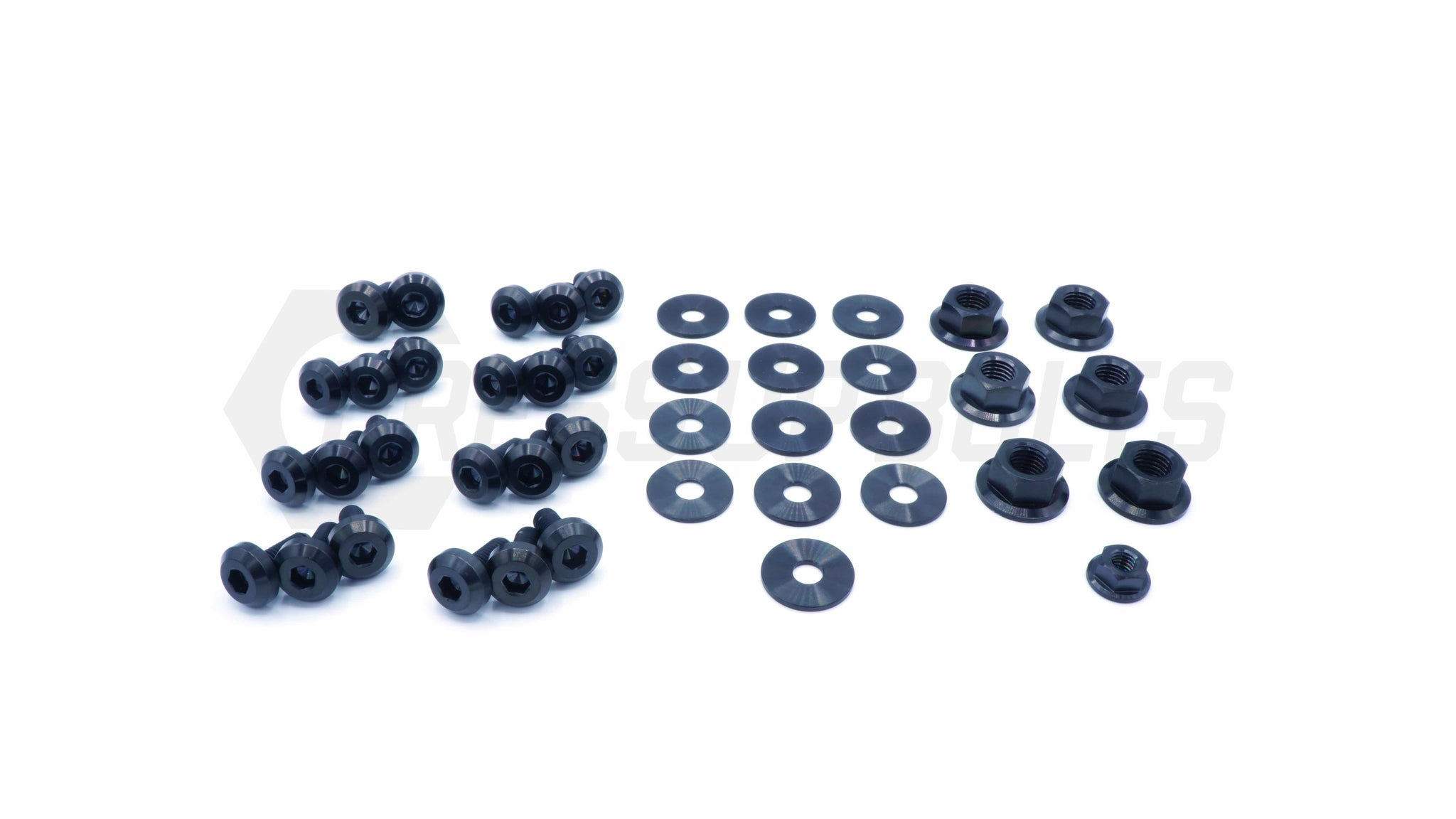 Toyota Supra (1993-2002) MKIV Titanium Dress Up Bolts Engine Bay Kit - DressUpBolts.com