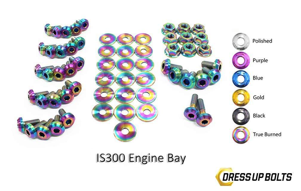 Lexus IS300 (1998-2005) SXE10/JCE10/GXE10 Titanium Dress Up Bolts Full Engine Bay Kit - DressUpBolts.com