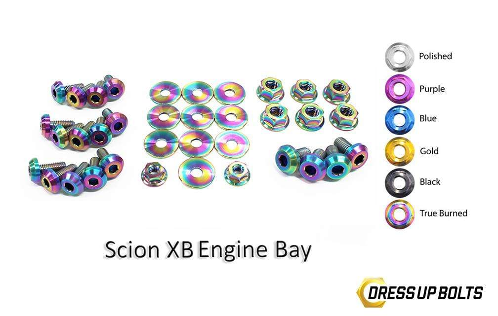 Scion XB (2003-2006) Titanium Dress Up Bolts Engine Bay Kit - DressUpBolts.com