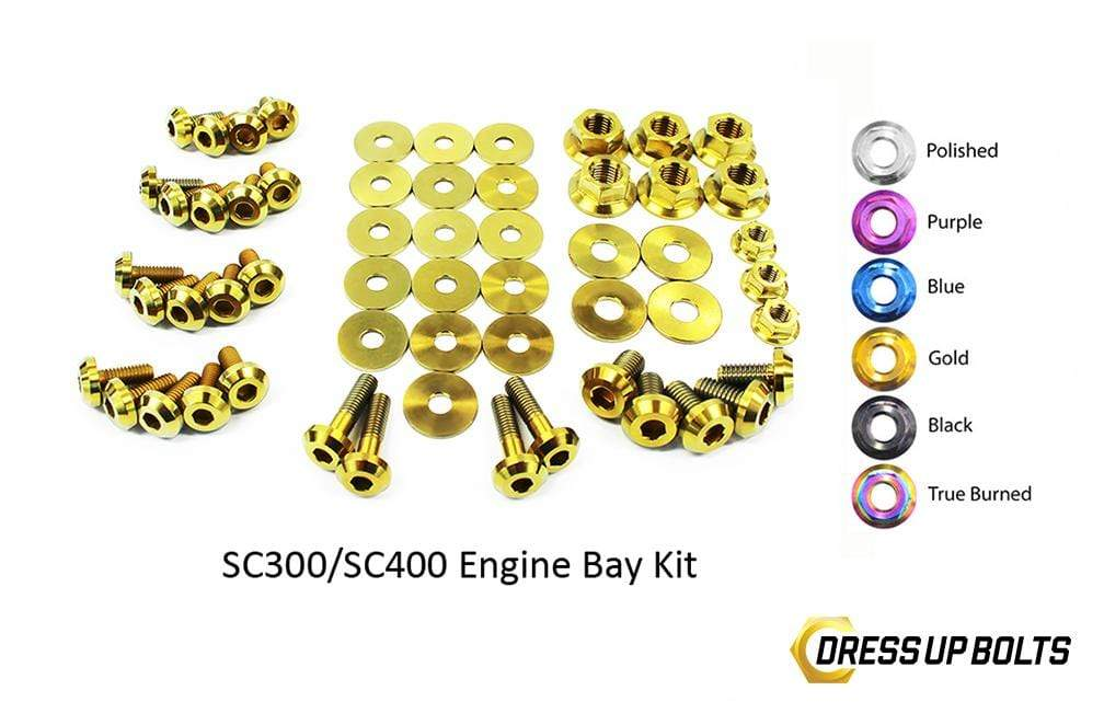Lexus SC300/SC400 (1992-2000) Titanium Dress Up Bolts Engine Bay Kit - DressUpBolts.com