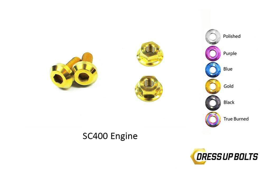 Lexus SC300/SC400 (1998-2000) 1UZ-FE VVTi Titanium Dress Up Bolts Engine Kit - DressUpBolts.com