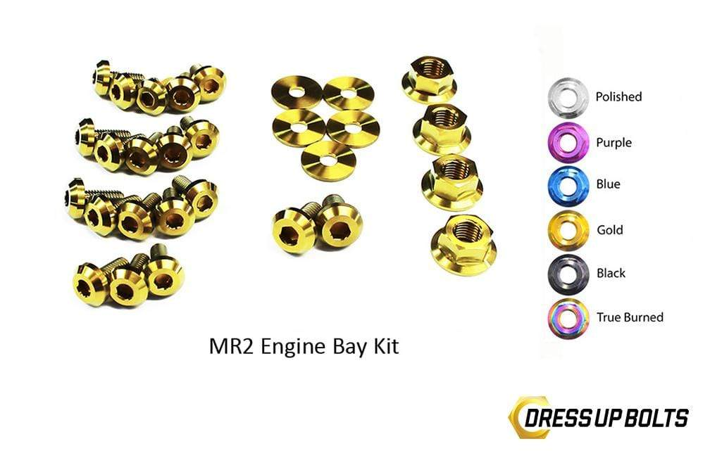 Toyota MR2 W20 (1990-1999) Titanium Dress Up Bolts Engine Bay Kit - DressUpBolts.com