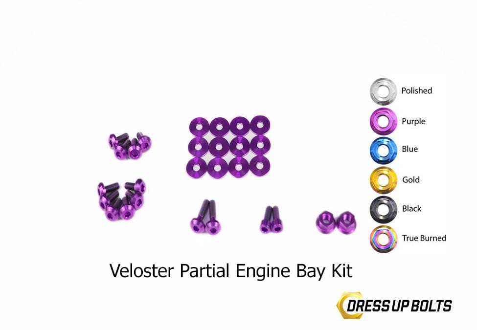 Hyundai Veloster (2012-2018) Titanium Dress Up Bolt Engine Bay Kits - DressUpBolts.com