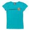 Santa Cruz Other Dot Fitted Girls T-Shirt Tahiti Blue